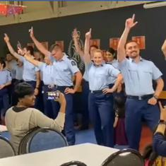Watch: New Zealand police officers dance to Bollywood songs at a Diwali event in Wellington