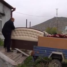 Watch: Armenian residents pack belongings to leave Aghdam district before Azerbaijan takes over