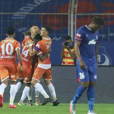 ISL highlights: Angulo nets brace as Goa come from two goals down to earn a point against BFC