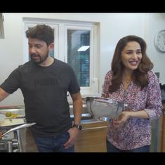 Watch: Actor Madhuri Dixit Nene makes the Maharashtrian dish 'kanda poha' with her husband