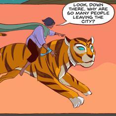 Beware Covid-19, superhero Priya and her flying tiger Sahas are here