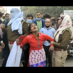 Watch: Young woman protests after man she meant to marry is arrested under interfaith marriage law