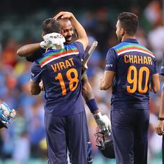 Second T20I: T Natarajan, Hardik Pandya shine as India clinch series with high-scoring thriller