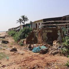 India's eastern coast is eroding rapidly and some villages have already been engulfed by the sea