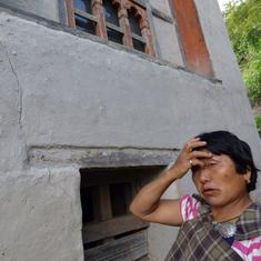 In photos: How Bhutan's flourishing hydropower is damaging homes across the country
