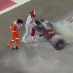 Nothing scary about it: Raikkonen lives up to 'Ice Man' tag by fighting car fire