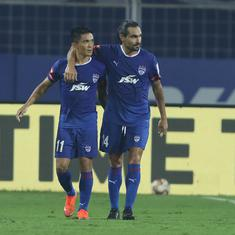 ISL: Sunil Chhetri misses a penalty and then scores as Bengaluru FC beat Kerala Blasters in thriller