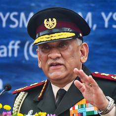 China's bid to change status quo necessitates high-level preparation on all frontiers: Bipin Rawat