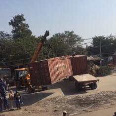 Watch: Delhi Police adds yet another layer of barricades on state borders to keep farmers out