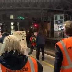 Man proposes to train driver girlfriend at Ireland station, delights internet