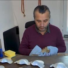 Watch: Turkish silversmith designs gold, silver face masks to keep business afloat in the pandemic