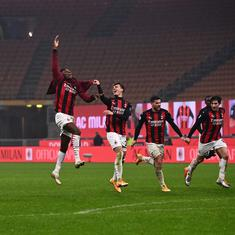 Serie A: Table toppers AC Milan beat Lazio to enter winter break with one-point lead over Inter