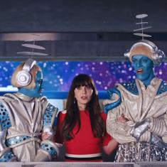 Watch: Aliens mistake Zooey Deschanel for Katy Perry in her new music video