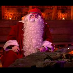 Watch: 'Stay safe and healthy,' Santa Claus tells the world as he leaves home, led by his reindeer