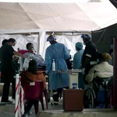 Watch: Hospital in South Africa converts parking area into emergency ward as Covid-19 cases pile up