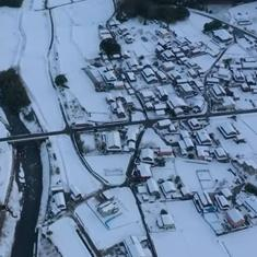 Watch: Drone footage shows Japan's Fukui prefecture covered in a white layer after heavy snowfall