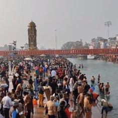 Masks missing: Thousands gather in Haridwar for Kumbh Mela 2021, flouting Covid-19 concerns