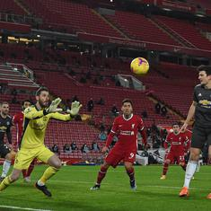 Premier League: Manchester United remain on top after stalemate against Liverpool, City thump Palace