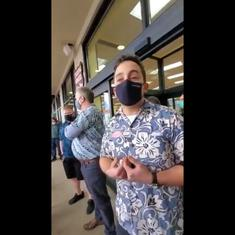 'You can't enforce non-law': Trader Joe's manager rejects entry to spirited anti-mask protestors
