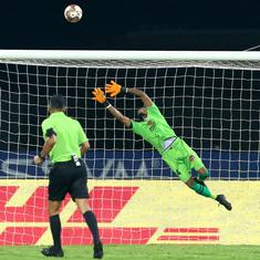 ISL: Goalkeeper Debjit Majumder stars as ten-man East Bengal hold Chennaiyin to goalless draw