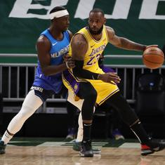 NBA: LeBron James stars with a season-high 34 points as LA Lakers beat Milwaukee Bucks