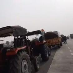 Watch: Farmers begin their journey towards Delhi to participate in 'tractor march' on Republic Day