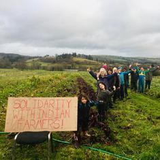 In photos: Farmers across UK rally in solidarity with Indian protestors against farm laws