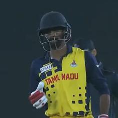 Watch: Baba Aparajith's fifty helps Tamil Nadu seal semi-final spot in Syed Mushtaq Ali Trophy