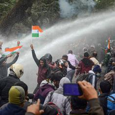 Tripura: Over 100 injured as police use tear gas, water cannons at teachers' protest in Agartala