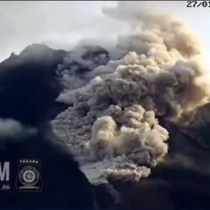 Watch: Indonesian volcano Mount Merapi erupts, spews hot ash and smoke