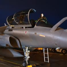 Three more Rafale jets land in India after flying non-stop from France