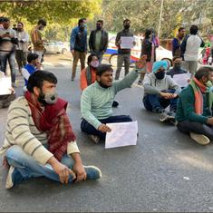 Journalists in Delhi stage protests outside police headquarters against Mandeep Punia's arrest
