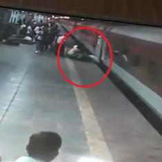 Watch: RPF personnel save passenger from falling under running train in Maharashtra