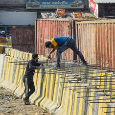 Farm laws: At Delhi's borders, police use concrete barriers, razor wires to block farmers