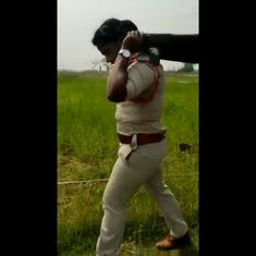 Watch: Police sub-inspector helps carry dead body on bier after locals refuse to help