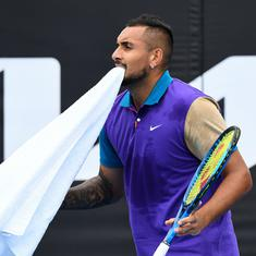 I'm not playing: Nick Kyrgios argues with chair umpire over time violation at Murray River Open