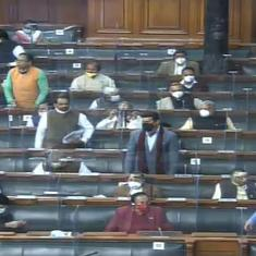 Budget Session: Lok Sabha adjourned for the day as Opposition protests farm laws