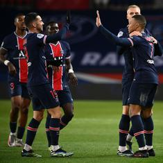 Ligue 1: PSG breeze past Nimes as Marseille blow two-goal lead against Lens