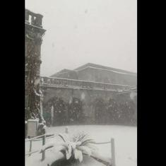 Watch: Shimla in the Himalayas receives first snowfall of the year