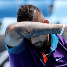 Murray River Open: Racquet-smashing, swearing Kyrgios suffers injury-hit defeat