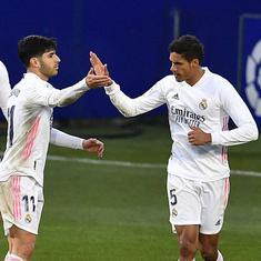 La Liga: Varane scores twice as Madrid complete a gutsy 2-1 win against Huesca