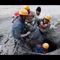 Watch: How ITBP personnel rescued 16 people trapped in a tunnel near Uttarakhand's Tapovan dam