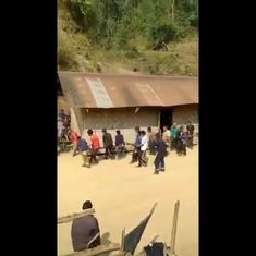 Watch: Group of people picks up and shifts an entire house to a new location in Nagaland