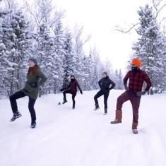 Watch: Physically-distanced Bhangra class at minus 20° Celsius in Yukon, Canada