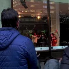 Watch: Storefronts are the new stage for local musicians of New York City