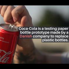 Watch: Coca-Cola tests prototype of paper bottle to replace plastic one