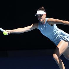 Australian Open: Jennifer Brady rallies to beat Jessica Pegula, reach second Grand Slam semi-final