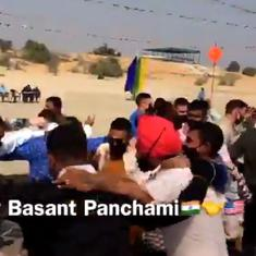 Watch: Soldiers from India, US take a break from joint military exercise to dance together