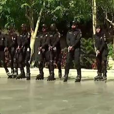 Watch: Karachi police is training an armed rollerblading unit to tackle crime