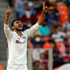 Third Test, day 1: Axar's six-wicket haul, Rohit's unbeaten fifty hand India early advantage